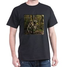 Wolf in Trees Black T-Shirt