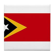 Timor Leste Flag Tile Coaster