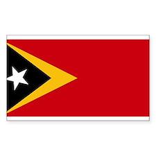 Timor Leste Flag Rectangle Decal