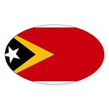 Timor Leste Flag Oval Decal