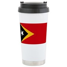Timor Leste Flag Travel Mug