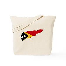 Timor Leste Flag Map Tote Bag