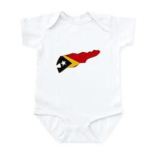 Timor Leste Flag Map Infant Bodysuit