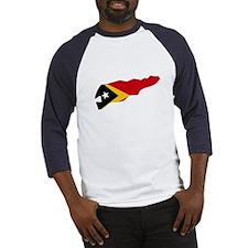 Timor Leste Flag Map Baseball Jersey