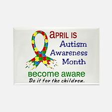 Autism Awareness Month Rectangle Magnet