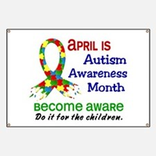 Autism Awareness Month Banner