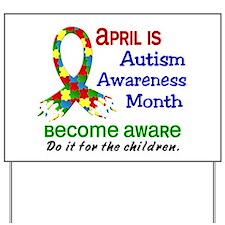 Autism Awareness Month Yard Sign