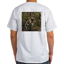 Wolf in Trees Ash Grey T-Shirt