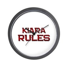 kiara rules Wall Clock