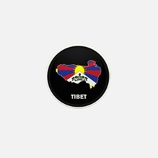 Flag Map of tibet Mini Button (10 pack)