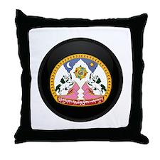 Coat of Arms of tibet Throw Pillow