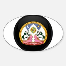 Coat of Arms of tibet Oval Decal