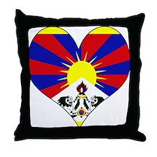 I Love tibet Throw Pillow