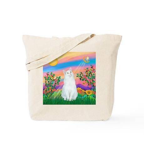 Day Star / (White) Cat Tote Bag