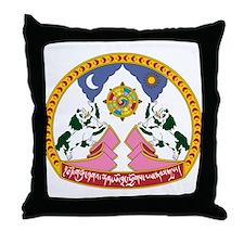 tibet Coat of Arms Throw Pillow