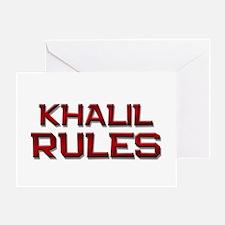 khalil rules Greeting Card