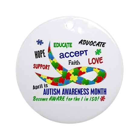 Autism Awareness Month Ornament (Round)