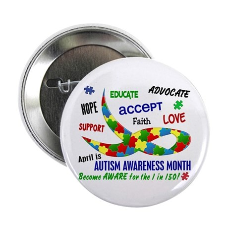 """Autism Awareness Month 2.25"""" Button (10 pack)"""