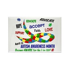 Autism Awareness Month Rectangle Magnet (10 pack)