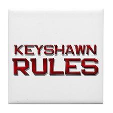 keyshawn rules Tile Coaster