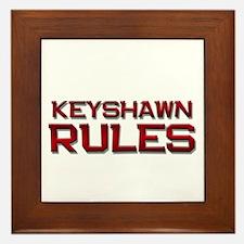 keyshawn rules Framed Tile