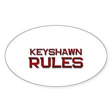 keyshawn rules Oval Decal
