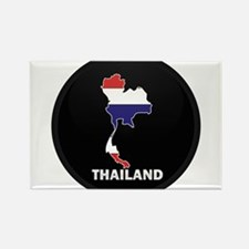 Flag Map of Thailand Rectangle Magnet