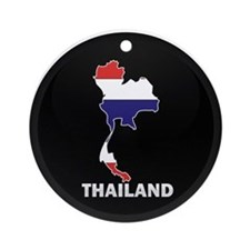 Flag Map of Thailand Ornament (Round)