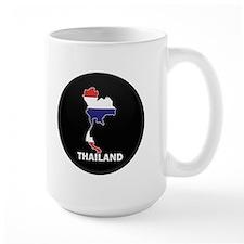 Flag Map of Thailand Mug