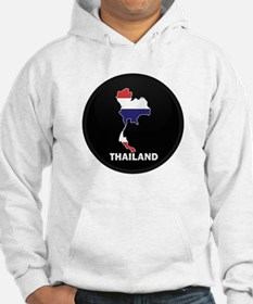 Flag Map of Thailand Hoodie