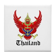 Thai Coat of Arms Seal Tile Coaster