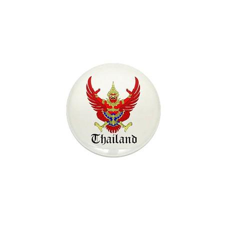 Thai Coat of Arms Seal Mini Button