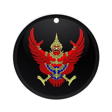 Coat of Arms of Thailand Ornament (Round)