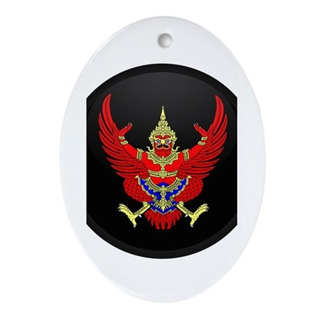 Coat of Arms of Thailand Oval Ornament