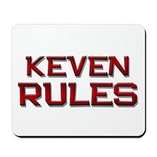 keven rules Mousepad