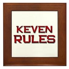keven rules Framed Tile
