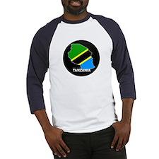 Flag Map of Tanzania Baseball Jersey