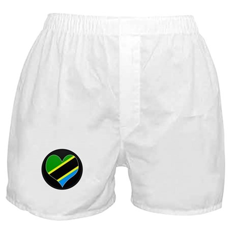 I love Tanzania Flag Boxer Shorts
