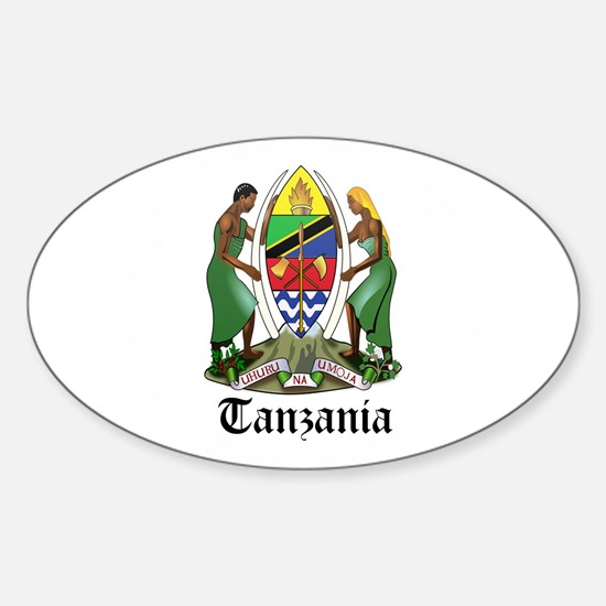 Tanzanian Coat of Arms Seal Oval Decal