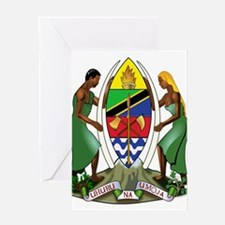 Tanzania Coat of Arms Greeting Card