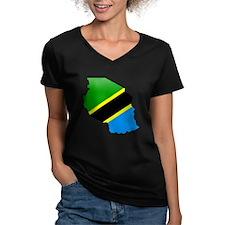 Tanzania Flag Map Shirt