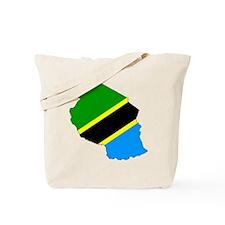 Tanzania Flag Map Tote Bag