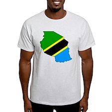Tanzania Flag Map T-Shirt