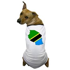 Tanzania Flag Map Dog T-Shirt