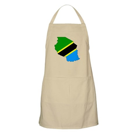 Tanzania Flag Map BBQ Apron