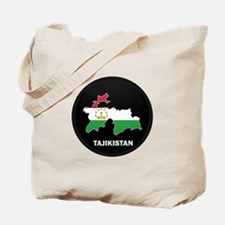 Flag Map of Tajikistan Tote Bag