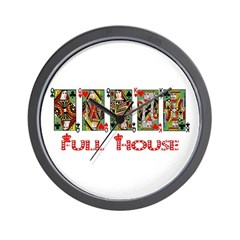Full House! Wall Clock