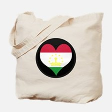 I love Tajikistan Flag Tote Bag