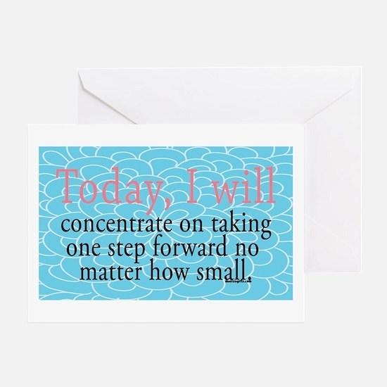 One Step Forward Encouragement Greeting Card