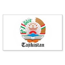 Tajikistani Coat of Arms Seal Rectangle Decal